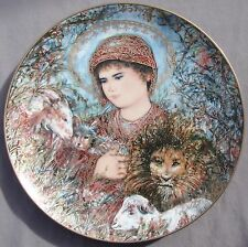 EDNA HIBEL plate PEACEFUL KINGDOM – Christmas 1989 -- MINT!