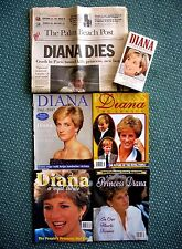 4 PRINCESS DIANA BRAND NEW LIMITED ED COMM. MAGAZINES + VHS & NEWSPAPER ARTICLES