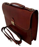 borsa cartella porta documenti lavoro uomo vera pelle made in italy marrone 7004