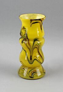 99835088 Unterfang-Vase Art Deco um 1930 Yellow Fadeneinschmelzungen Mouth-Blown