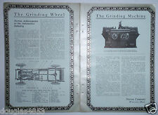 1924 NORTON GRINDING MACHINE IN THE AUTOMOTIVE INDUSTRY & FISK RUBBER CO. ADVERT