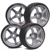 3mm offset  RC 1:10 On-Road Drift Car Hard Tyres Tires & Wheel Rim 9076-6013