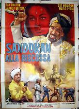 manifesto 4F film SANDOKAN ALLA RISCOSSA Ray Danton F.Bettoja 1964 da Salgari