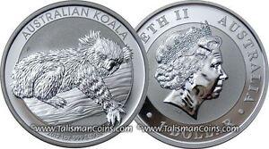 Australia 2012 Koala Bear Sleeping on Eucalyptus Gum Tree Branch $1 Pure Silver