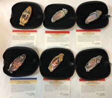 Set of SIX Knightstone Collections Vallejo Fantasy Collector Knives Cases & CoAs
