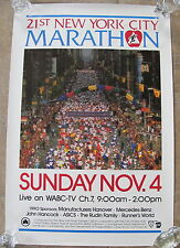 RARE NEW YORK CITY MARATHON 1991 OFFICIAL POSTER - VGC