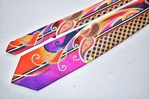 Men's Vitaliano Pancaldi Multicolor   Silk Neck Tie made in Italy