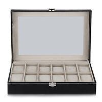 12 Grid Watch Display Case Wrist Watch Storage Box Jewelry Storage M3S0