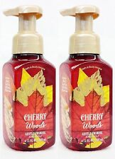 2 Bath & Body Works CHERRY WOODS Gentle Foaming Hand Soap Wash Fall