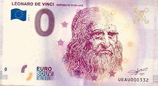 BILLET 0 ZERO EURO SOUVENIR  TOURISTIQUE  LEONARD DE VINCI 2018-3