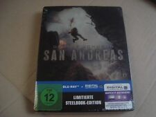 SAN ANDREAS Blu-Ray SteelBook NEW & SEALED Dwayne Johnson The Rock Kylie Minouge