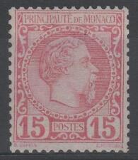 """MONACO STAMP TIMBRE N° 5 """" PRINCE CHARLES III 15c ROSE 1885 """" NEUF xx TB  N873"""