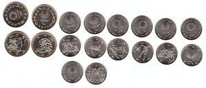 Japan _ set 9 coins 7 x 100 + 2 x 500 Yen 2020 UNC Olympic Games Lemberg-Zp