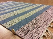 Striped Reversible Multi Colour Handwoven 100% Cotton  RUG 60x90cm 2'x3' 50%OFF