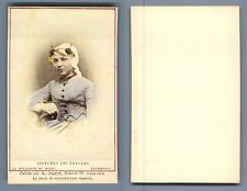 Couvée, La Haye, costume des pays bas Krommenie vintage carte de visite, CDV