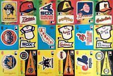 Fleer Baseball Team Logo Stickers (1983 - 1986) // U Pick // Buy4+ Save 25%