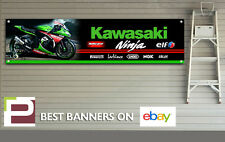 Kawasaki Ninja logo Banner for Workshop, Garage, Tom Sykes, Jonathan Rea