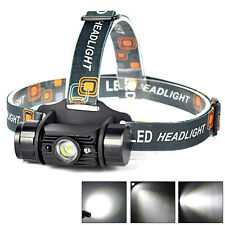 3W LED Infrared Sensors Rechargeable Headlamp Headlight Head Torch Flashlights