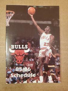 1985-86 Chicago Bulls Basketball Pocket Schedule,  Michael Jordan,