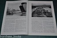 1944 magazine article, INVASION LANING CRAFT U. S. Marines, NAVY LST etc
