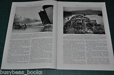 1944 magazine article, INVASION LANING CRAFT U. S. Marines, NAVY LST etc