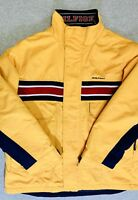 Tommy Hilfiger Vintage Logo 2004 Winter Lined Jacket Waterproof Mens XL Yellow