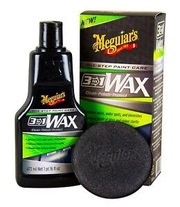 MEGUIAR'S MEGUIARS One-Step Paint Care 3in1 Wax Wachs Politur 473 ml + Foam Pad