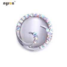 Metal Snap Button Charms Snap 18mm Opal Snap Button For 20mm Snap Jewelry KM0127