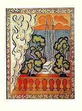 """1973 Vintage MATISSE """"WINDOW IN TAHITI VUE PAPEETE"""" COLOR Art offset Lithograph"""