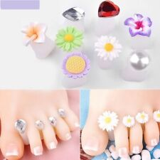 Nail Art Toe Separator Silicone Pedicure Tool Foot Manicure Finger Care Flower