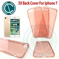 COVER PER IPHONE 7 APPLE TRASPARENTE MORBIDA CUSTODIA SOTTILE TPU SLIM ROSA