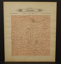 Nebraska Lancaster County Map Panama Township 1903  K17#24