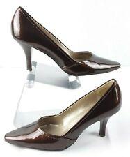 AK Anne Klein I FLEX Patent Leather Pumps Bronze Brown Women's 6.5 M Heels