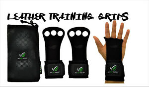 Crossfit Gym Gloves Strenght Weight Training Hand Protection Grips Black