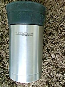 """Thermocafe thermos food flask 400ml insulated travel mug and spoon 7"""" high"""