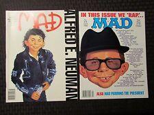 1988 MAD Parody Magazine LOT of 2 #277 VF+ #278 VF+ Michael Jackson Bad