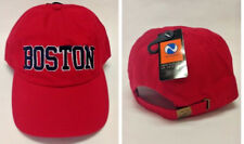 Boston Red Sox Team Colors on 3D Direct Embroidered Slouch Hat Cap! Buckle Back!