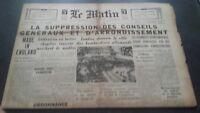 JOURNAL LE MATIN LUNDI 14 OCTOBRE 1940 N°20.655 BE