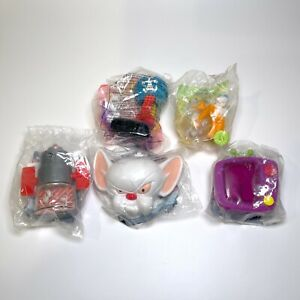 LOT OF 5 PINKY & THE BRAIN WB ANIMANIACS KIDS MEAL TOYS NEW IN PACKAGE