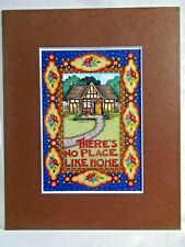 """New listing Mary Engelbreit Matted Calendar Print 8 X 10"""" There's No Place Like Home #121"""