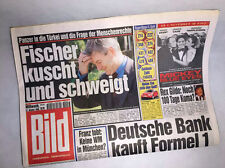 Bildzeitung vom 27.10.1999 Geschenk 18. 19. 20. Geburtstag * Joschka Fischer