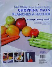 """FLEXIBLE CHOPPING MATS 11"""" x 14"""" Food Preparation Cutting Mat Crafts 2 Mats"""
