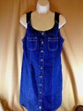 Fade Glory jumper dress, blue denim,  jr. size 8/10, dark wash