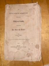 1815 The Language of Scripture......by A Layman, Boston