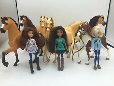 "Dreamworks Spirit Riding Free 6"" Horse and Doll Lot - 7 Horses, 3 Dolls"