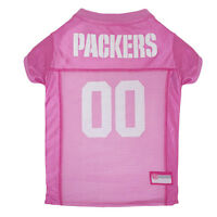 Green Bay Packers Licensed NFL Pets First Dog Pet Mesh Pink Jersey Sizes XS-L