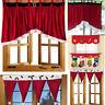 Door Window Drape Panel Christmas Curtain Decorative Festival Home Xmas Decor