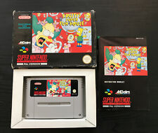 KRUSTY'S SUPER FUN HOUSE BOXED WITH INSTRUCTIONS FOR SNES, SUPER NINTENDO