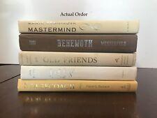 5 COFFEE & CREAM vintage/modern books for decor