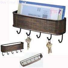 Wall Mount Mail Letter Key Rack Storage Holder Hook Home Kitchen Living Room